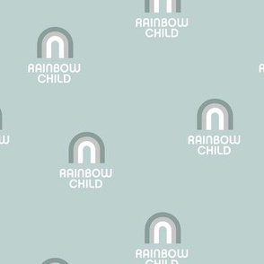 Sweet rainbow child boho wild child design nursery retro soft sea green mist boys