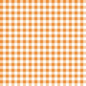 gingham orange small