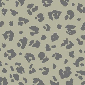 The distorted leopard boho animal print green gray