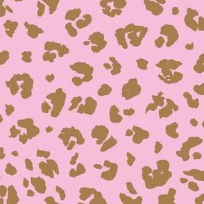 The distorted leopard boho animal print pink burnt orange
