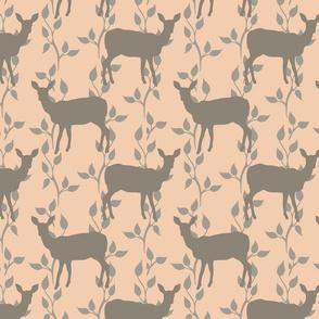 Deer On Branch Vine - Parfait