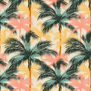 Colorful Palm Trees