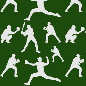 Baseball players in field