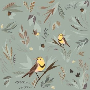 Meadowlarks In Fall