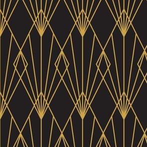 Art Deco Black Gold