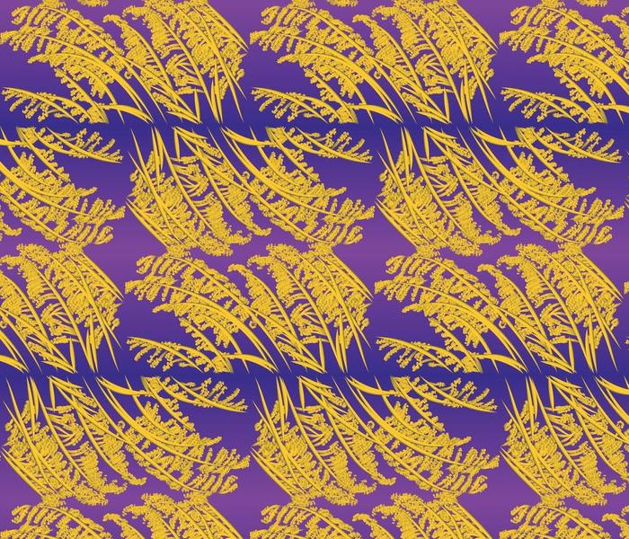Purple Majesty and Amber Waves