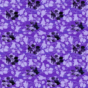 Abstracts and Paw prints - perfect purples