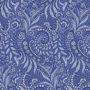 Small Paisley Garden Grows - blue tones