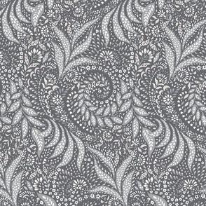 Small Paisley Garden Grows - greys