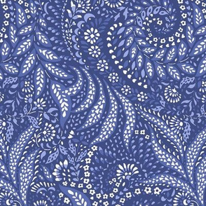 Medium Paisley Garden Grows - blue tones