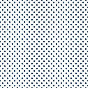 Navy Hard-ppainted Dots