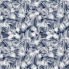 Navy Abstract Scallop