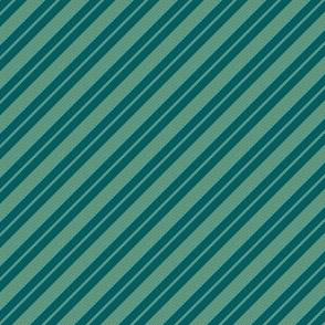 jade and dark teal stripe