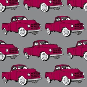1951-1953 Studebaker pick up truck (red on gray)