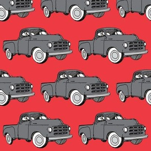 1951-1953 Studebaker pick up truck (charcoal over red)
