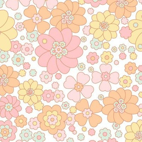 Flower Power-pastel aqua