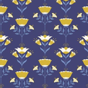 Folksy Flowers blue