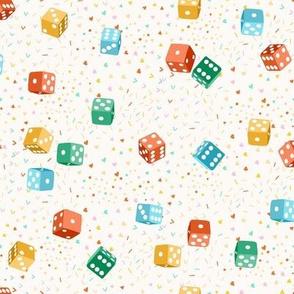 Game night dice - cream