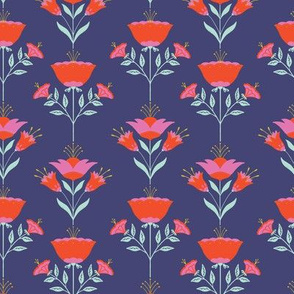 folksy florals dark coordinate