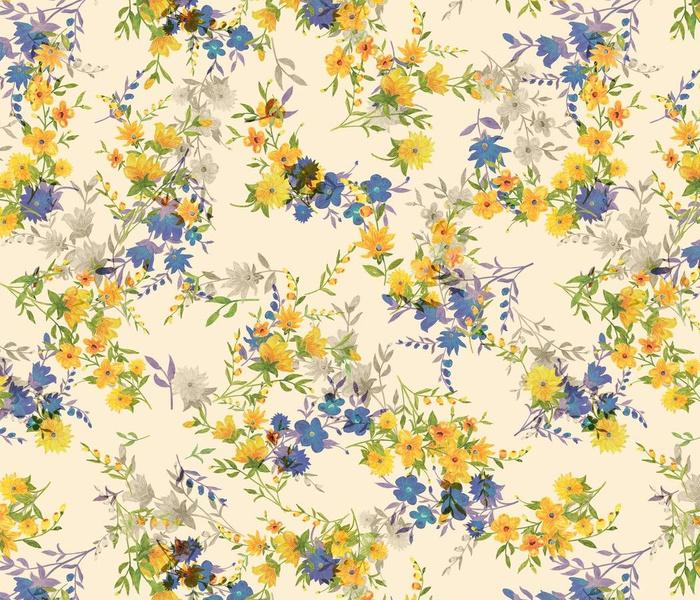 delicate meadow flowers.