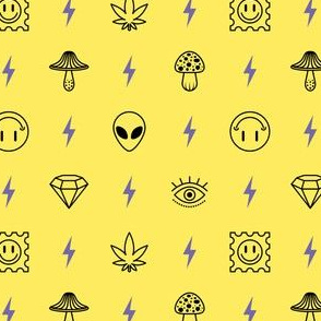shrooms and trips - yellow
