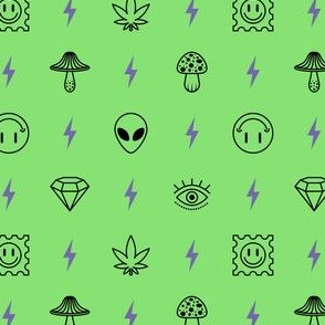 shrooms and trips - green