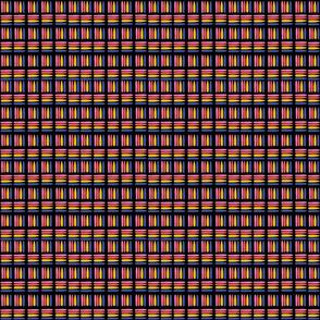 Striped Squares -Black