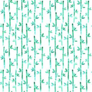 Watercolor Bamboo Pattern - Pastel Mint