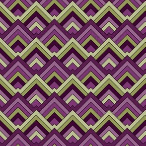 Mountain Triangles Purple