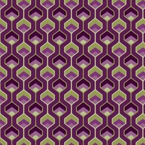 Angular Hourglass Purple