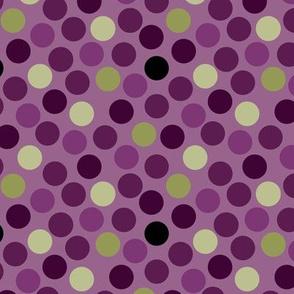 Polka Dots Purple Green