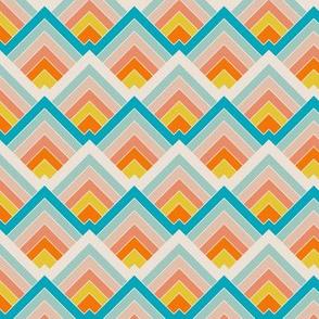 Mountain Triangles Pastel