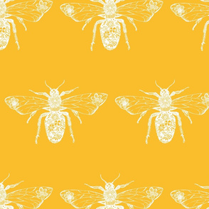 Queen Bee Yellow and White