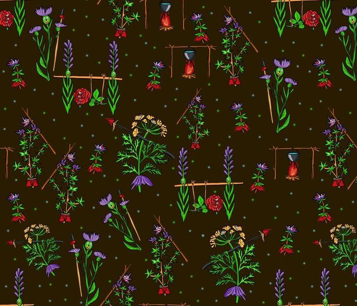 wild herbs, natives