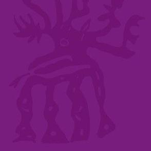 elk in purple
