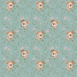 Koala turquoise tile