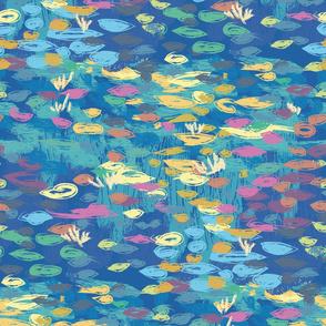 Waterlilies Blue | Impressionism