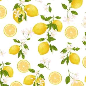 Juicy Lemon * blossom pattern
