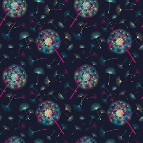 dandelions neon
