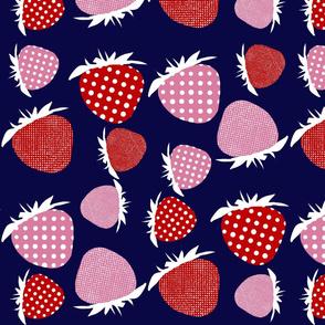 Sixties Mixed Strawberry Print Medium