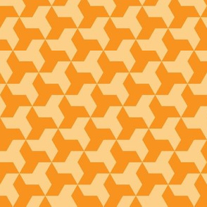 Seven Triangles Throwing Stars // Orange and Yellow