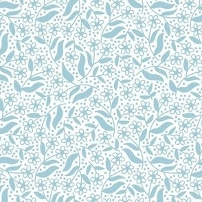 Ditsy dotty floral / baby blue