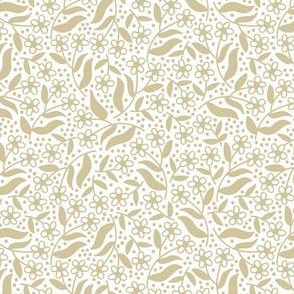 Ditsy dotty floral / wheat