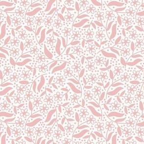 Ditsy dotty floral / pink