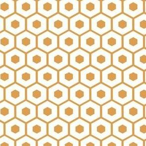 Honeycomb / white on honey