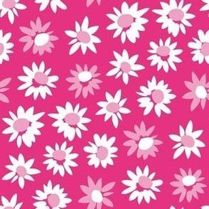 Sunflowers / hot pink
