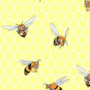 Honey Bees Large Print