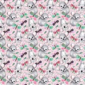 Springtime Koalas & Butterflies // pink Mini Size