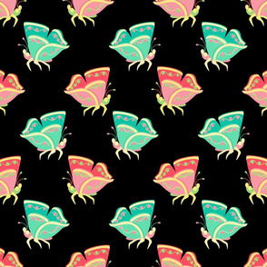 Folksy Butterflies - Black Large