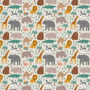 Safari. Cute animals